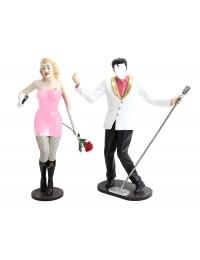 Elvis ohne Gesicht und Marilyn in Rosa