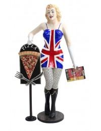 Marilyn großbritannien mit Menükarte und PizzaTafel
