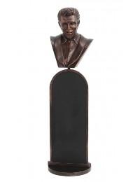 bronze Elvis Büste Angebotstafel