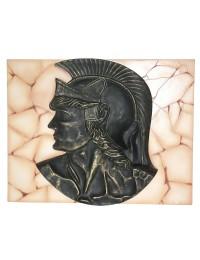 Antiker Ritterkopf auf Mosaik für Wand
