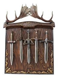 Geweihtafel mit Schwerthalterung