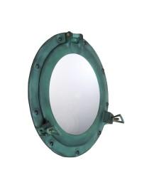 Spiegel Bullauge Blau