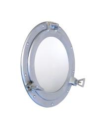 Spiegel Bullauge Silber hell