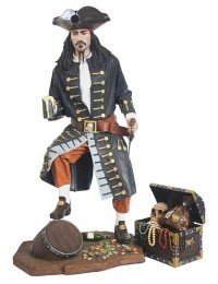 Pirat mit Schatztruhe