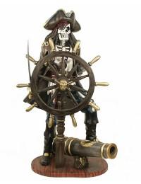 Piratenskelett mit Steuer