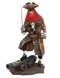 Pirat Redbeard auf Kanone