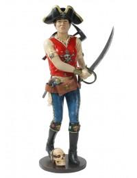 Piratenfrau mit Schwert und Axt