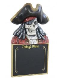 Piratenskelett Angebotsschild
