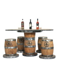 Weinfasstisch und Weinfasshocker
