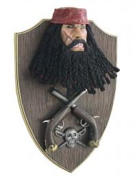 Pirat Blackbeard mit Pistolen Wanddeko
