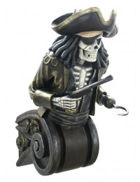 Piratenskelett Oberkörper auf Kapitell