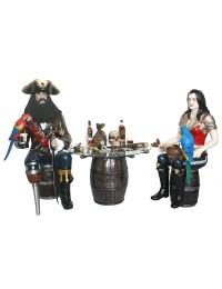 Piraten auf Weinfässern