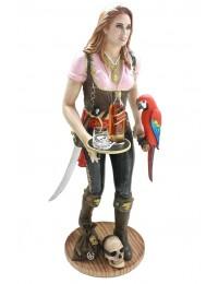 Piratenfrau Butler mit Papagei