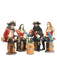 Piraten auf Weinfässern mit Weinhalterung