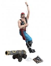 Pirat kletternd mit Kanone