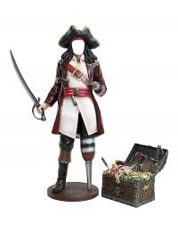 Captain Hook ohne Gesicht mit Schatztruhe