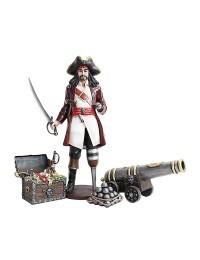 Captain Hook mit Kanone und Schatztruhe