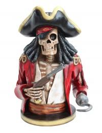 Piratenskelett Oberkörper rot