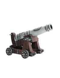 Kanone auf Holzwagen