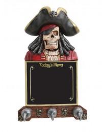 Piratenskelett Angebotstafel und Garderobe