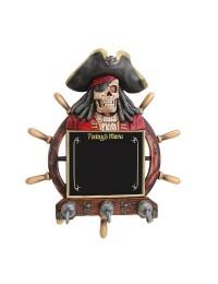 Piratenskelett Angebotstafel und Garderobe mit Steuer