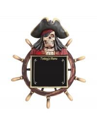Piratenskelett Angebotstafel mit Steuer