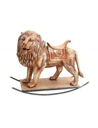 Goldener Löwe mit Sattel Schaukel