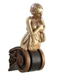 Aphrodite auf Kapitell Gold