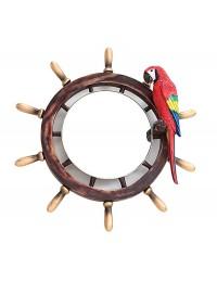 Schiffssteuer Spiegel mit Papagei