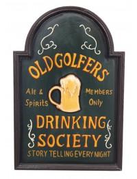 Golf Drinking Society Schild