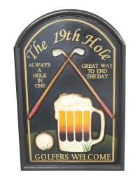 Golf 19th Hole Schild