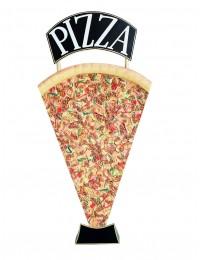 Pizzastück Einseitig mit Pizzaschild