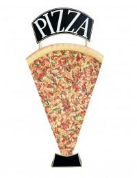 Pizzastück Zweiseitig mit Pizzaschild