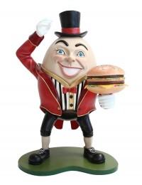 Humpty Dumpty Hut auf mit Burger