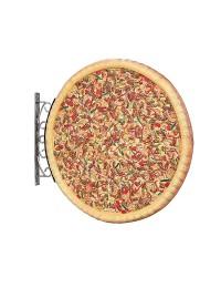 Ganze Pizza Zweiseitig für Wand