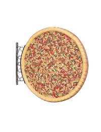 Ganze Pizza Einseitig für Wand