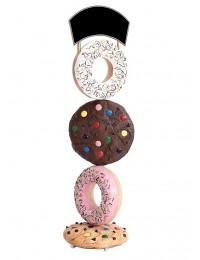 Kekse und Donuts mit Angebotsschild