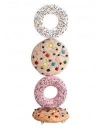 Kekse hell und Donuts