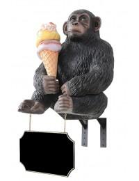Affe mit Eis für für Wand