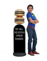 2 Burger Angebotstafel