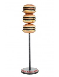 3 Burger auf Ständer