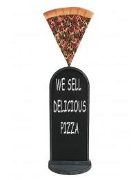 Pizzastück Angebotstafel