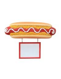 Hotdog mit Angebotsschild für Wand