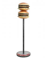 2 Burger auf Ständer