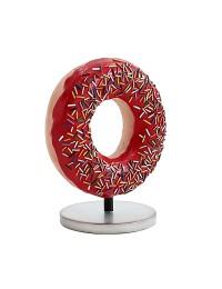 Donut rot auf kleinem Ständer
