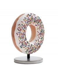 Donut weiß auf kleinem Ständer