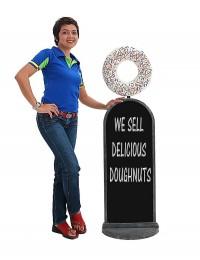 Donut weiß Angebotstafel