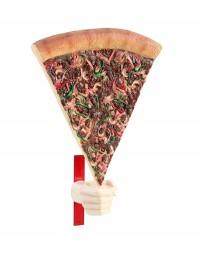 Pizzastück mit Hand für Wand