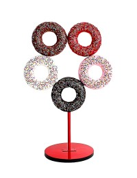 5 Donuts auf Ständer