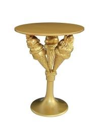 Eistüten Tisch Gold auf Ständer